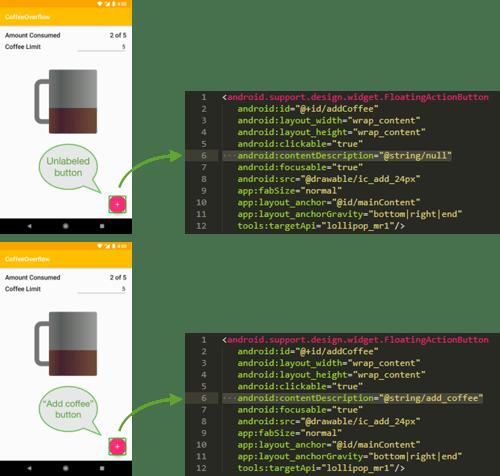 Accessibilité des éléments statiques sous Android